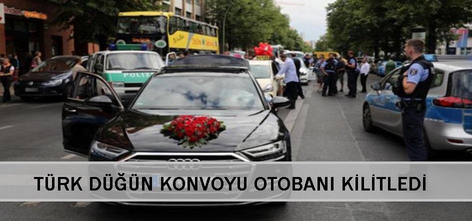 Türk düğün konvoyu otobanı kitledi