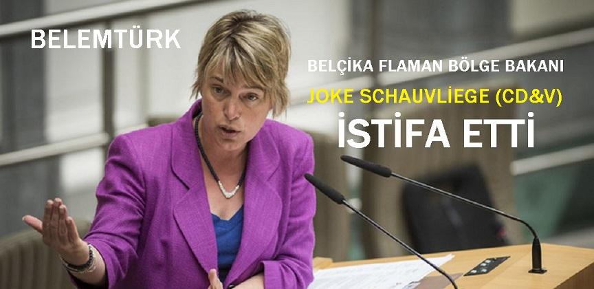 Belçika Flaman Bölgesi Çevre Bakanı Joke Schauvliege (CD&V) İstifa Etti