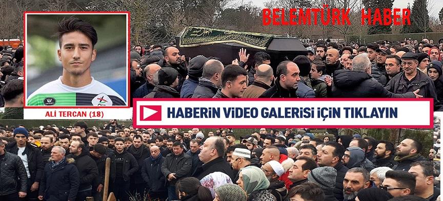 Genç Futbolcu Ali Tercan'ı  Son Yolculuğuna 5 Bin Kişi Uğurladı