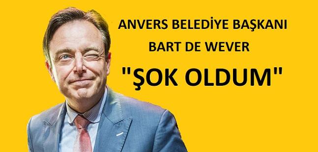 """Anvers Belediye Başkanı Bart De Wever (N-VA), Anvers'teki Silahlı Saldırı İçin  """" Şok Oldum"""" İfadesini Kullandı"""
