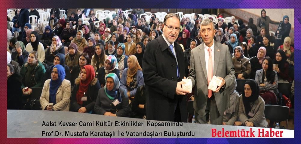 Aalst Kevser Camii Kültür Etkinlikleri Kapsamında Prof.Dr. Mustafa Karataş'lı İle Konferans Düzenledi