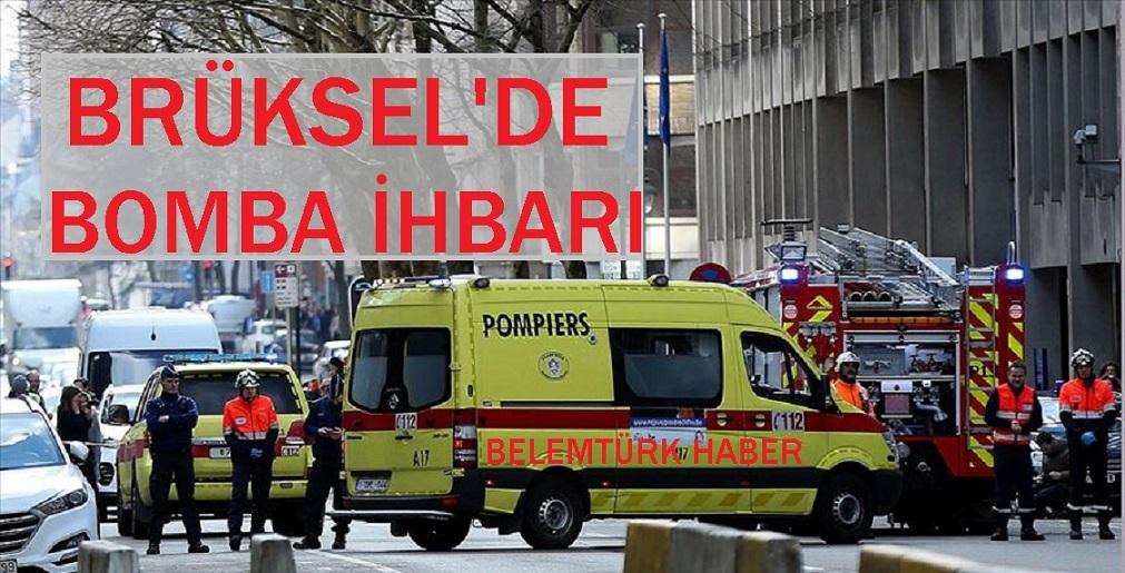 Brüksel'de bomba alarmı