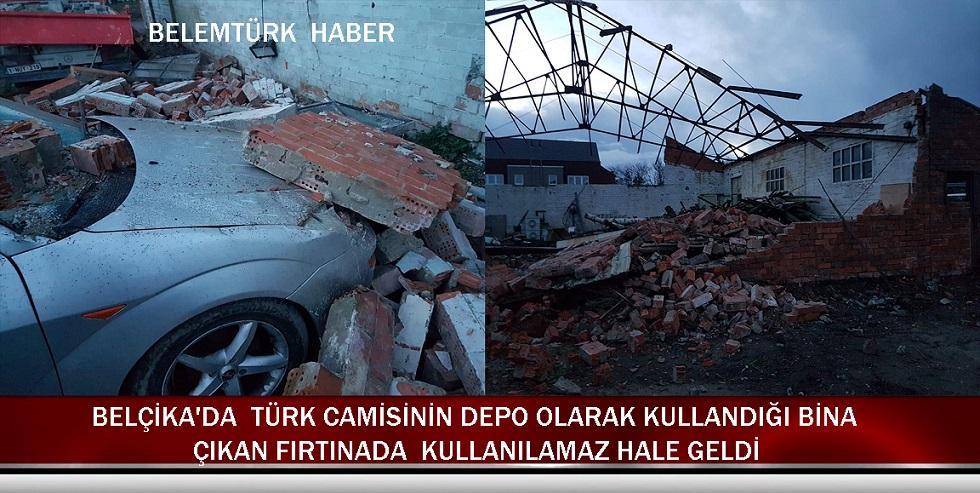 Belçika'da Türk Camisinin Depo Olarak Kullandığı Bina, Çıkan Fırtınada Çöktü
