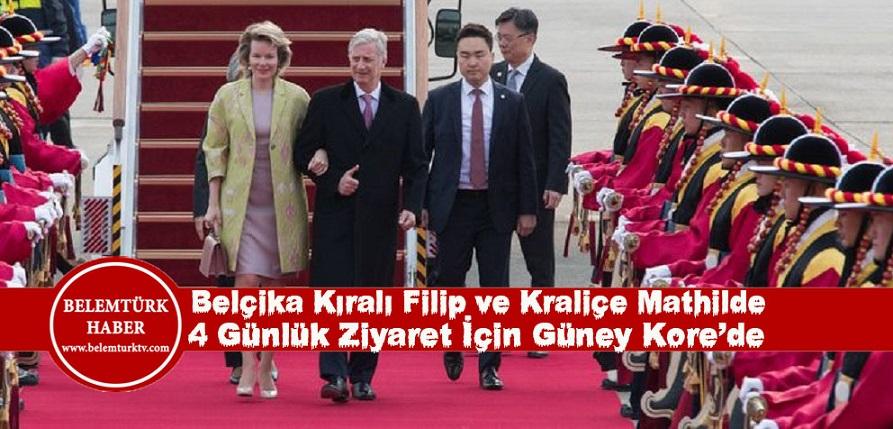 Belçika Kralı Filip ve Kraliçe Mathilde 4 günlük bir ziyaret için Güney Kore'ye gittiler