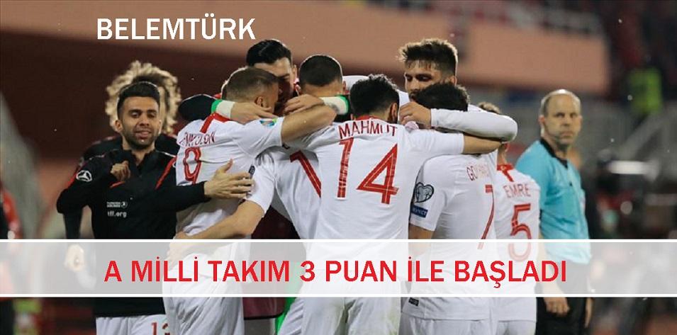 A Milli Takım Deplasmanda Arnavutluk'u Mağlup Etti.