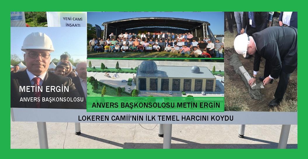 Başkonsolos Metin Ergin, Lokeren Yeni Sakarya Camii'nin İlk Temel Harcını Koydu