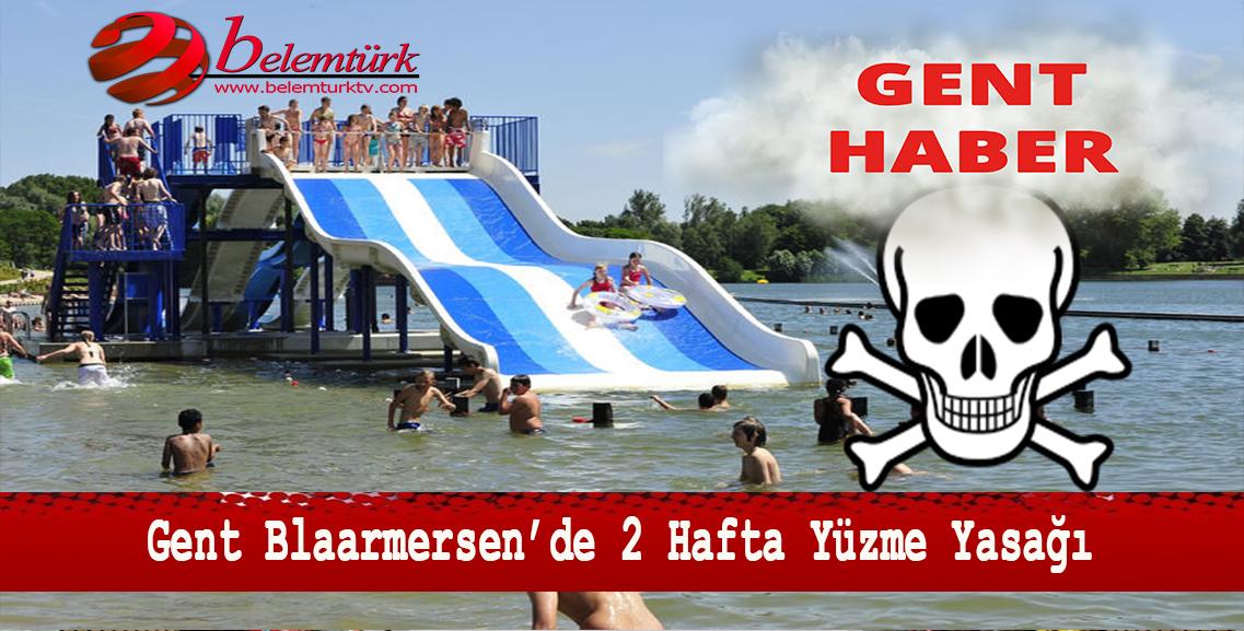 """Gent Blaarmeersen'de """"mavi algler"""" nedeniyle iki hafta yüzme yasağı getirildi."""