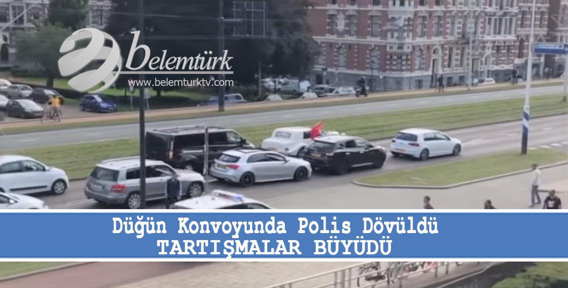 Düğün konvoyunu durduran polis dövüldü, tartışmalar alevlendi