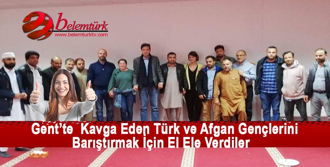 Gent Bld. Başkanı Matias Türk ve Afgan gençlerin kavgasına son vermek için tarafların temsilcileri ile  toplantı düzenledi.