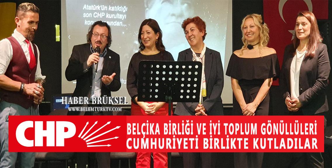 Brüksel'de, CHP  ve İyi Partililer Cumhuriyeti Birlikte  Kutladılar