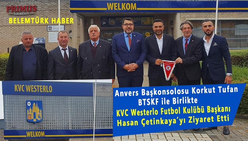 Anvers Başkonsolosu Korkut Tufan, BTSKF ile birlikte Hasan Çetinkaya'ya ziyaret gerçekleştirdi.