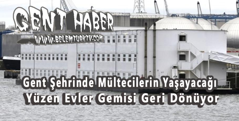 Gent şehrinde daha önce 250 mültecinin yaşadığı yüzen evler gemisi geri dönüyor