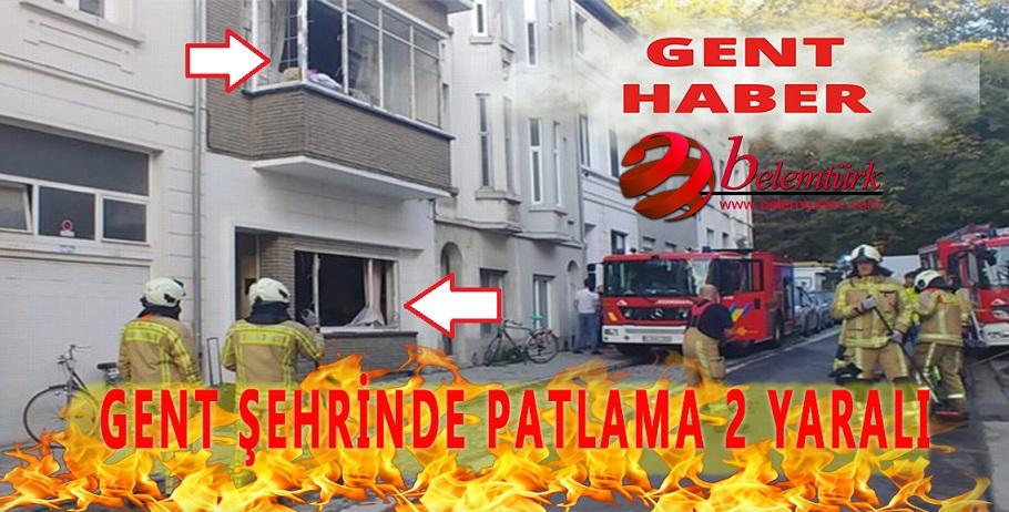 Gent şehrindeki  patlamada iki kişi  yaralandı