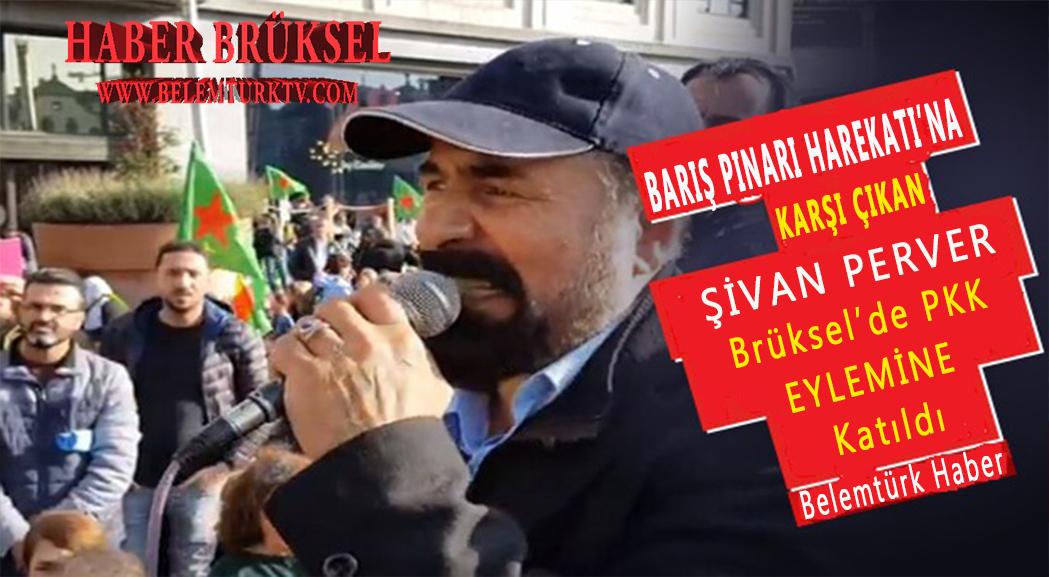 Barış Pınarı Harekatı'na karşı çıkan Şivan Perver, Brüksel'de PKK eylemine katıldı