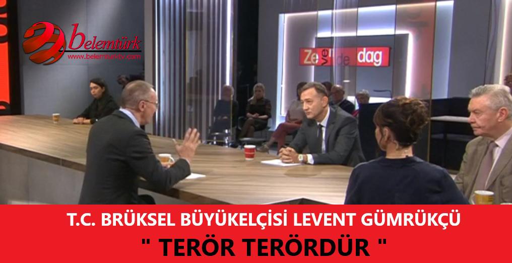 """Büyükelçi Gümrükçü, Flaman televizyon kanalında """"Barış Pınarı Harekatı"""" hakkında bilgi verdi."""