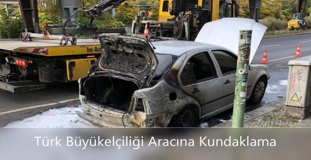 Türk büyükelçiliği aracına saldırı