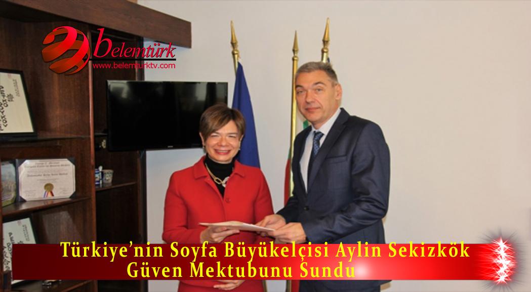 Türkiye'nin Sofya Büyükelçisi Sekizkök güven mektubunu sundu