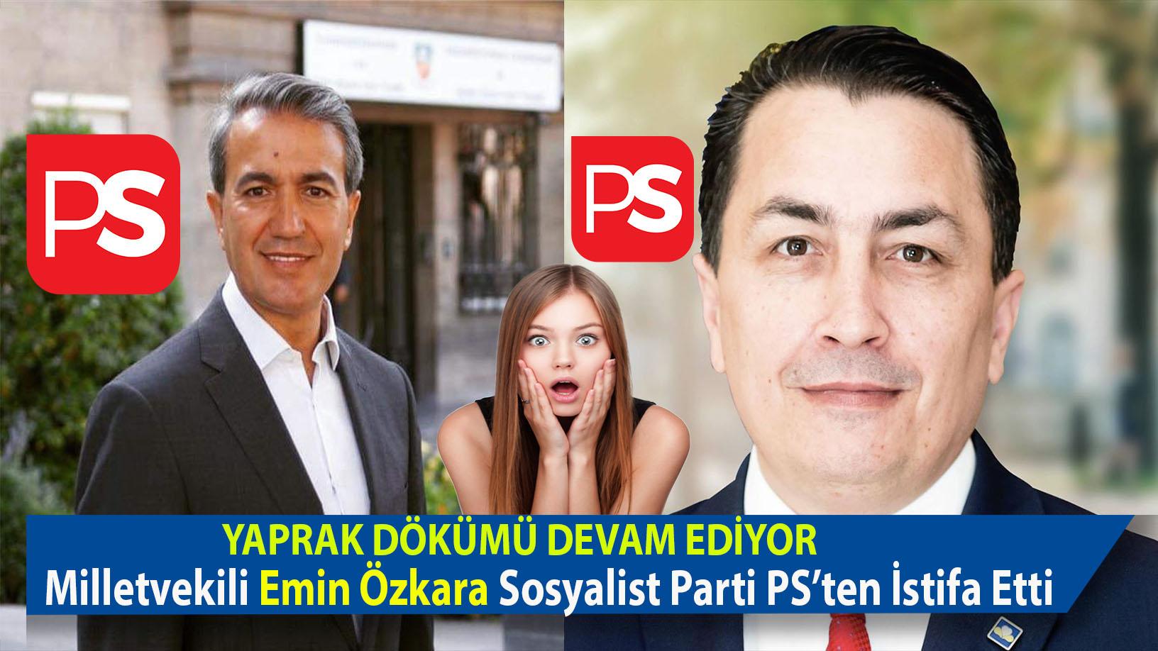 Emir Kır'ın PS Partisi'nden İhraç edilmesinin şoku devam ederken Emin Özkara' da istifasını açıkladı.