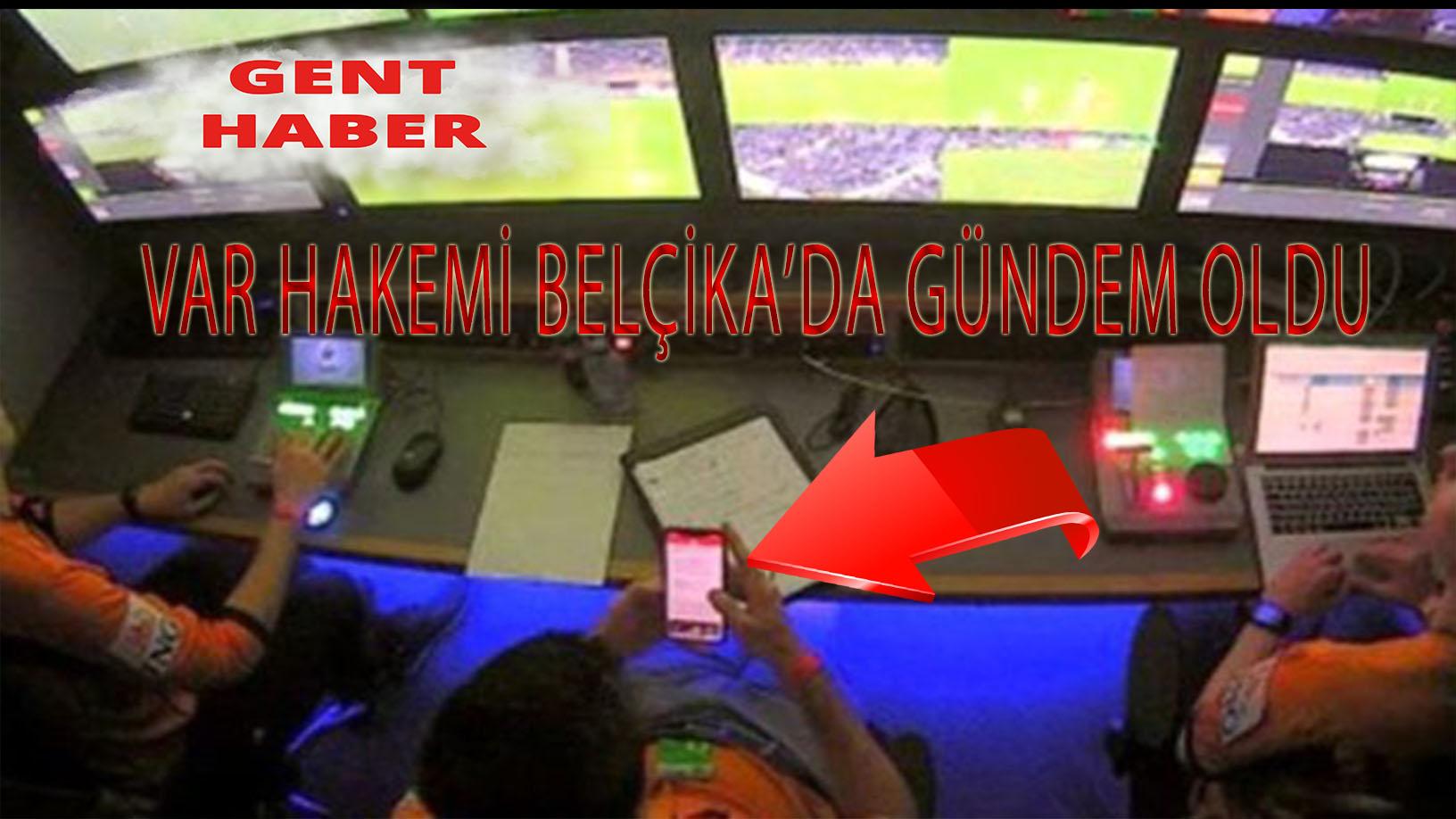 Gent – Sint-Truidense maçında VAR hakemi telefonuyla oynarken görüntülendi