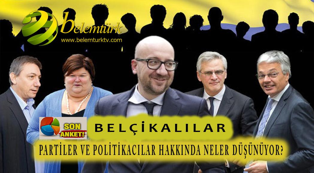 Belçikalılar partiler ve politikacılar hakkında ne düşünüyor ?