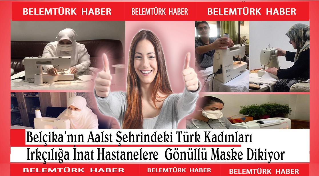 Belçika'nın Aalst şehrinde Türk kadınları destek için gönüllü maske dikiyor