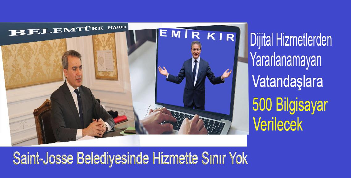 Başkan Emir Kır  dijital hizmetlerden yararlanamayan vatandaşlara  500 bilgisayar temin edecek