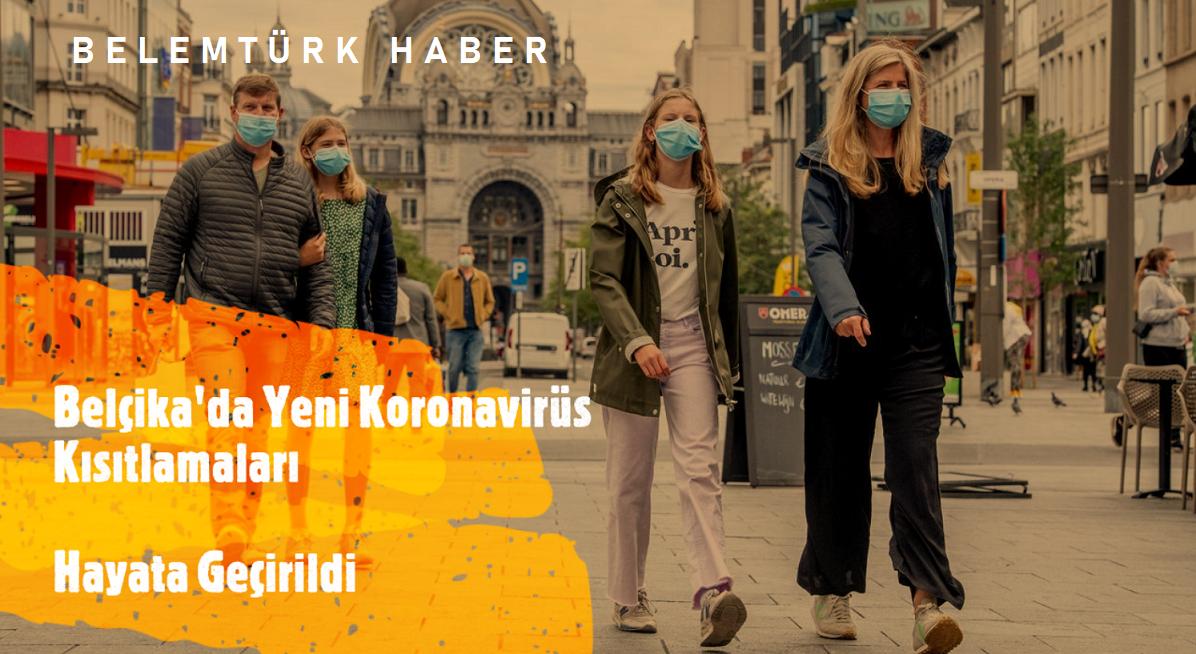 Belçika'da yeni koronavirüs  kısıtlamaları hayata geçirildi
