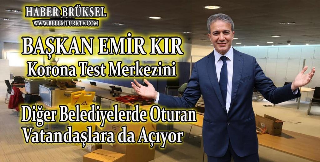 Başkan Emir Kır, Kovid-19 Test Merkezini diğer belediyelerdeki vatandaşlara da  açıyor