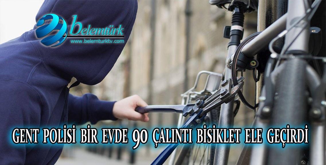 Gent polisi  bir evde 90 çalıntı bisiklet ele geçirdi