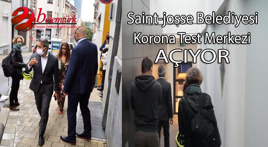 Brüksel Saint-Josse Belediyesi 28 Ağustos'ta Korona Test Merkezini Hizmete Açıyor
