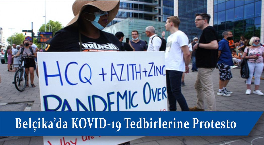 Brüksel'de hükümet Covid-19 tedbirleri nedeniyle protesto edildi.