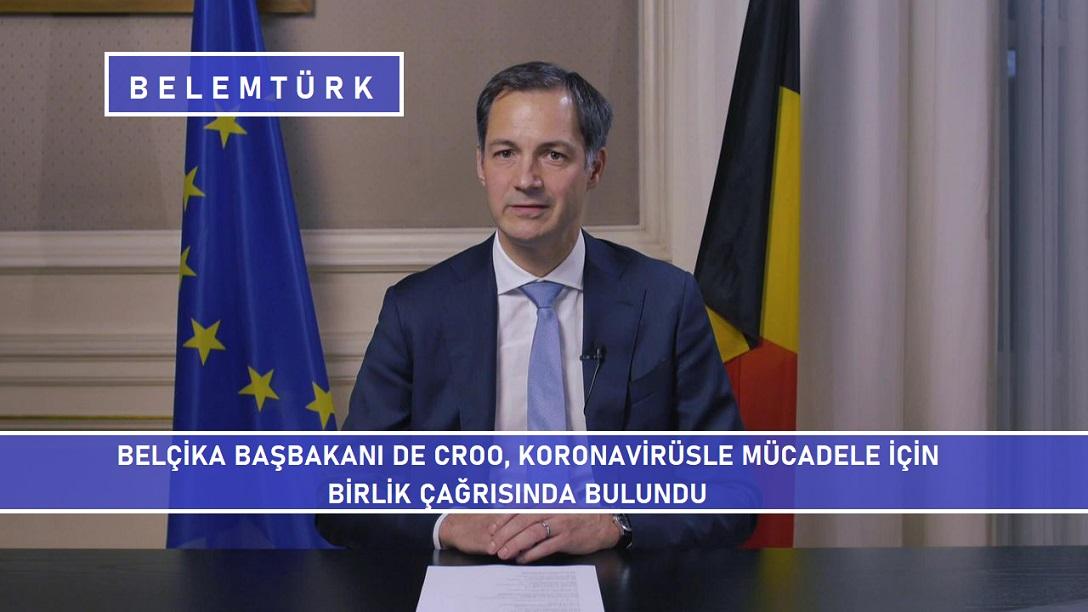 Belçika Başbakanı  De Croo koronavirüsle mücadele için birlik çağrısında bulundu