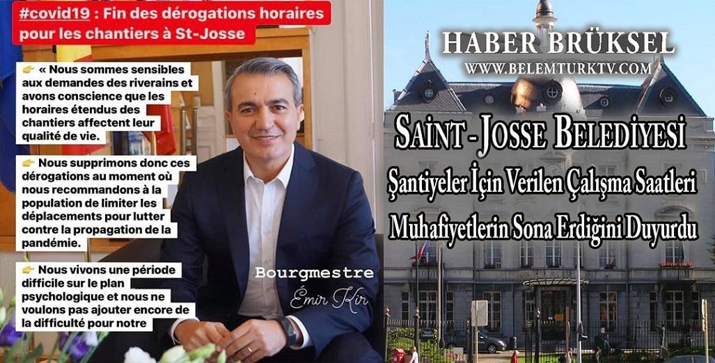 Saint-Josse Belediyesi şantiyeler için özel çalışma saatleri muafiyetlerinin sona erdiğini duyurdu