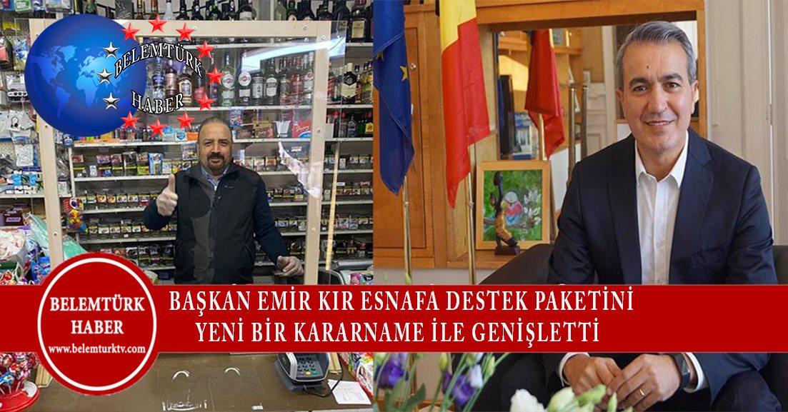 Başkan Emir Kır esnafa destek paketini bir kararname ile genişletti