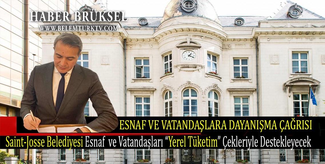 """Başkan Emir Kır, esnaf ve vatandaşları """"Yerel Tüketim"""" çekleriyle destekleyecek."""