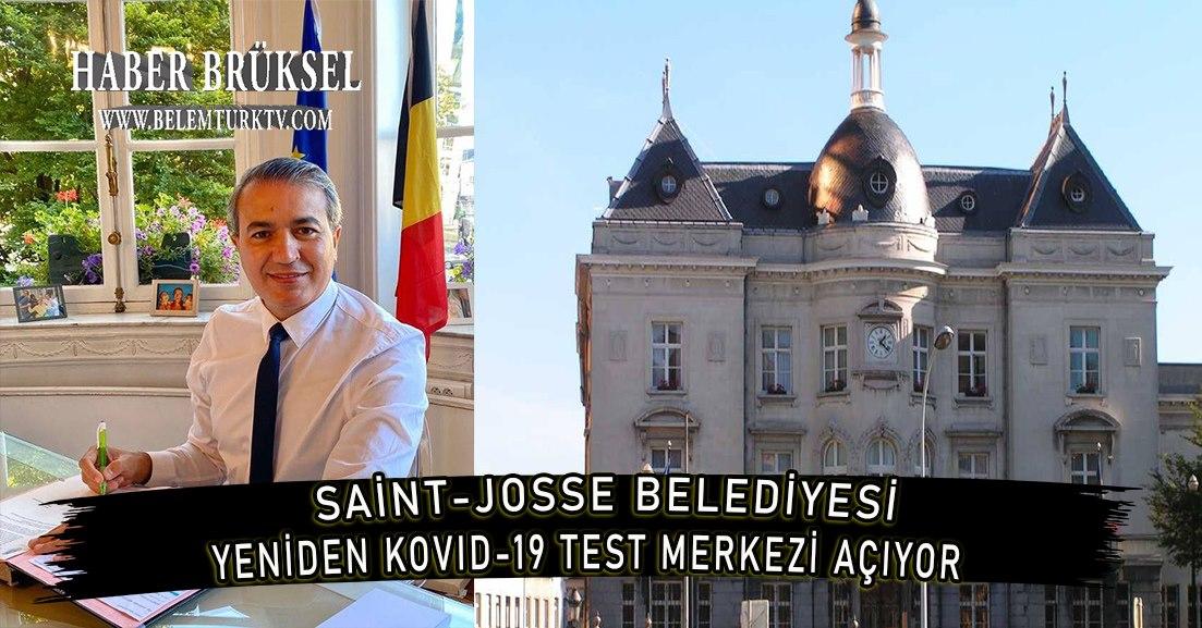 Saint-Josse Belediyesi, 7 Aralık'ta yeniden Kovid-19 test merkezi açıyor.
