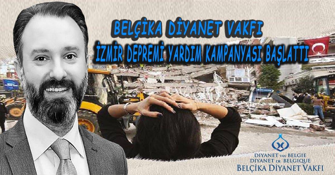 """Belçika Diyanet Vakfı """"İzmir depremi yardım kampanyası"""" başlattı."""