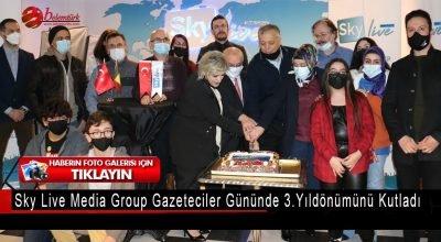 Brüksel'de Sky Live Media Group gazeteciler gününde 3. yıldönümünü kutladı.