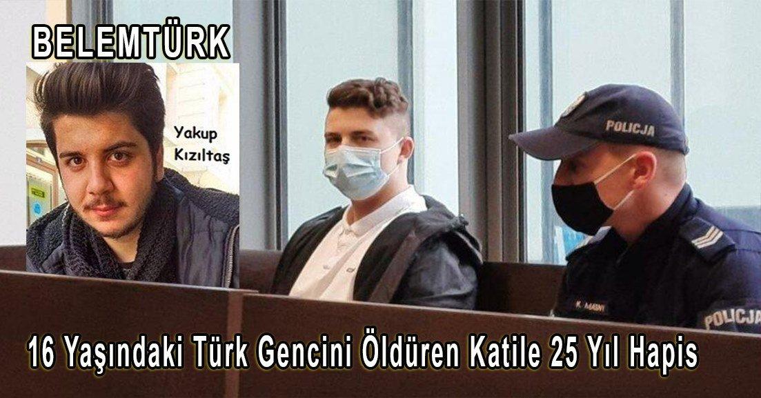 16 yaşındaki Türk gencini öldüren katile 25 yıl hapis