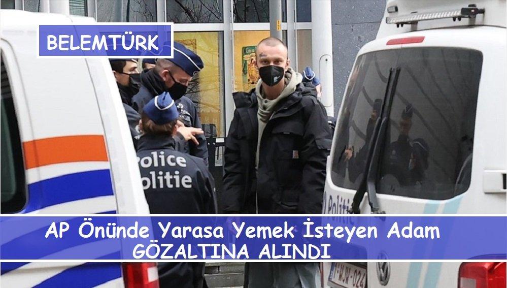 """Avrupa Parlamentosu önünde """"canlı yarasa yemek isteyen"""" adam gözaltına alındı"""