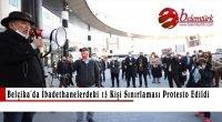 Belçika'da ibadethanelerdeki 15 kişi sınırlaması protesto edildi