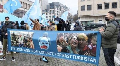 Uygur Türkleri, Brüksel'de Çin'i protesto etti
