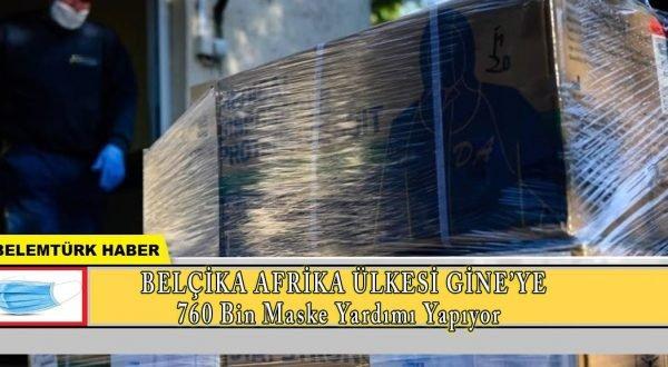Belçika, Afrika  ülkesi Gine'ye 760 bin  maske yardımı yapıyor