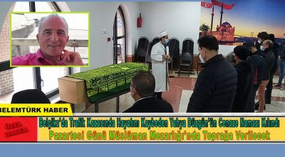 Belçika'da trafik kazasında hayatını kaybeden Yahya Düzgün'ün cenaze namazı kılındı.