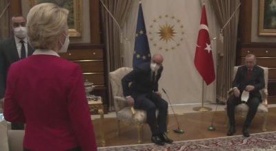 """AB' nin Türkiye ziyaretine """"koltuk krizi"""" damga vurdu."""