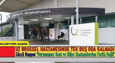 Belçika'da hastanelerdeki doluluk oranı alarm veriyor.