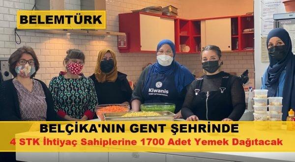 Belçika'nın Gent şehrinde 4 STK  Ramazan ayı  boyunca ihtiyaç sahiplerine yemek dağıtacak.
