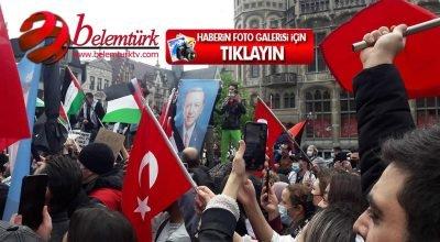Belçika'nın Gent şehrinde İsrail'in Filistin'e yönelik saldırıları protesto edildi