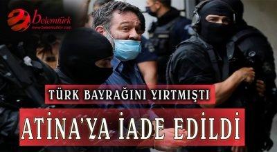 Avrupa Parlamentosu'nda Türk bayrağını yırtan ırkçı vekil Lagos Atina'ya iade edildi