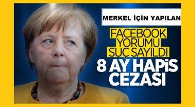 Sosyal Medya üzerinden Merkel'e hakaret eden kişiye  8 ay hapis cezası!